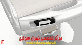 کلید و سوئیچ ولوو و روش تعویض باتری سوئیچ و ریموت ولوو XC90 4